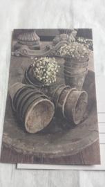 Ansichtkaart / flowerpots / nostalgische
