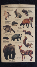 Kraft stickers dieren / animal