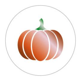 Sticker sluitzegel rond wit | pompoen | 10stuks