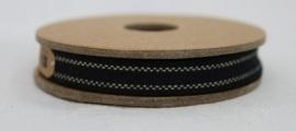 EI 2352 Band 3 meter spoel zwart  met creme