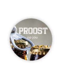 Sticker rond - Proost op jou | 35mm | 10stk