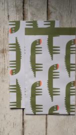 Vlakke Zakjes /  Krokodil / 12 x19 cm / 5stk
