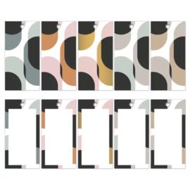 Cadeau label mix - Retro shapes | 5stk