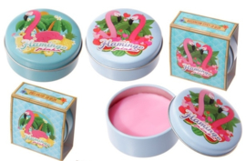 Lipbalm in blikje / Flamingo