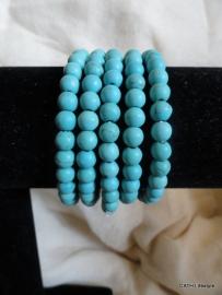 Armband / kralen turquoise