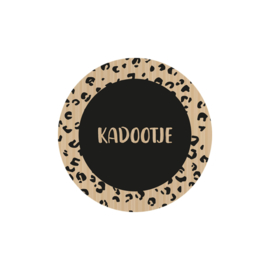 Sticker sluitzegels kraft zwart | kadootje panter | 45mm | 20stk
