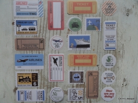 Stickers / vintage travel / 6PA0283