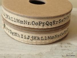 Twill katoen / alfabet band op spoel / 3M