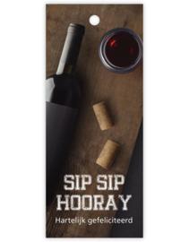 Cadeau kaartje /label - Sip Sip Hooray - Hartleijk Gefeliciteerd