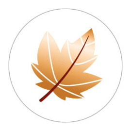 Sticker sluitzegel rond wit | herfstblad | 10stuks