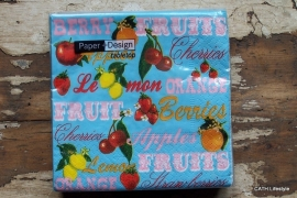TI Servetten Fruit fairy 25x25