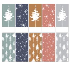 label rechthoekig, lovely trees 5 stuks