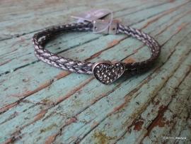 BIBA Armband / met hart en magneet sluiting