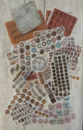 Stickers / cijfers - letters / 20 stk