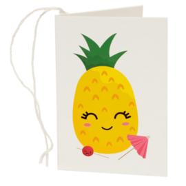 Cadeaukaartje / fruitgezichtjes