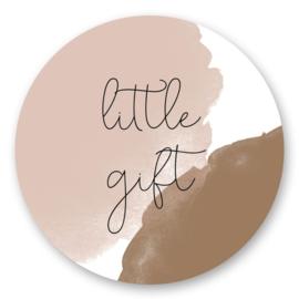 Sticker sluitzegel - little gift nude | 45mm | 10stk