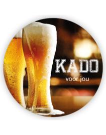 Sticker sluitzegel XL - Kado voor jou | biertje | 6 stk