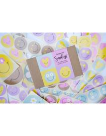 Doosje met 100 Smiley stickers