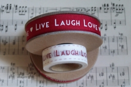 EI 3133 Band 3 meter spoel rood Live, Laugh, Love
