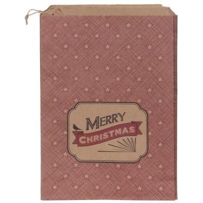 Zakjes Merry Christmas / star / EI 5025 / 5stk