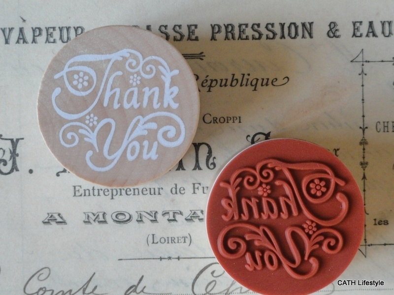 """Stempel / rond / """"Thank You"""""""