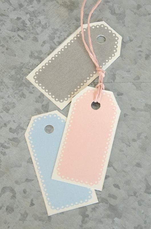 Labels / tags pastels / 10 stks