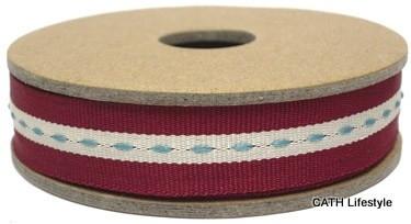EI 3158 Band 3 meter spoel rood met stiksel in het midden