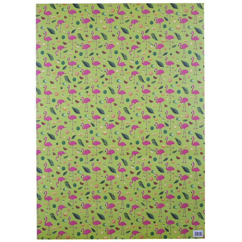 Kadopapier / flamingo