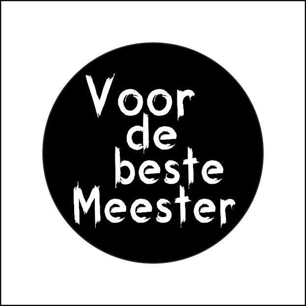 Sticker - Voor de beste meester | 10stk