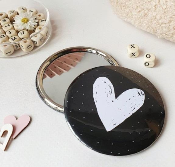 Spiegeltje | met wit hart