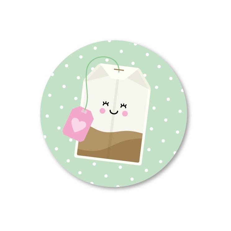 Sticker / theezakje / 5stk