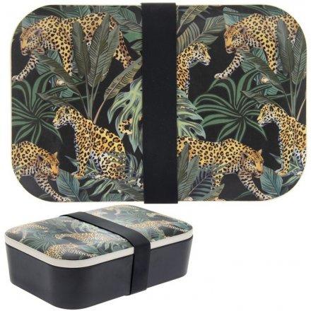 Bamboe lunchtrommel - lunchbox / Jaguar jungle fever