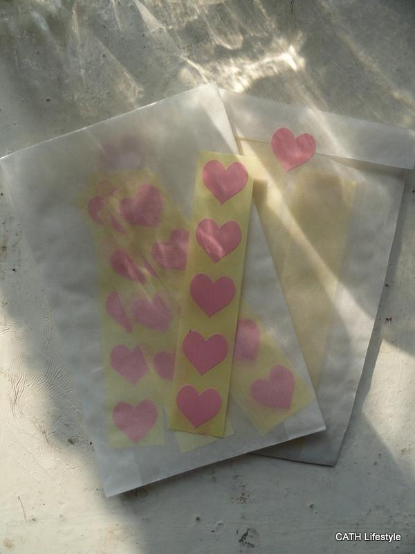 Sticker - mini hart / roze / 15mm / 50 stk