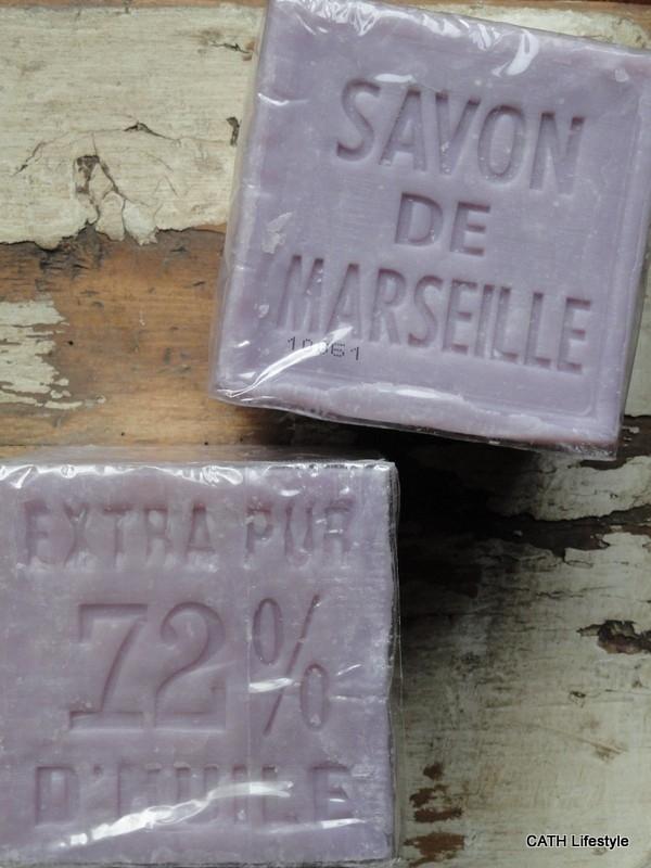 Zeep blok   Savon de Marseille   lavendel blok 400 gram