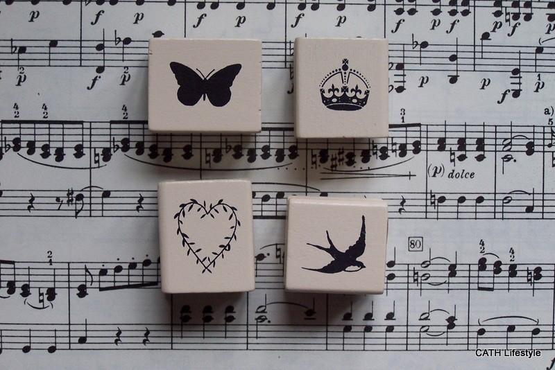 Stempel  / vogel / kroon / vlinder / hart / EI