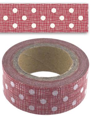 Paper ( masking) tape  / rood met stippen / EI 4721