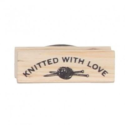 "Stempel /  ""knitted with love"" / EI 3659"