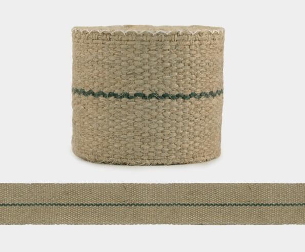 Webbing / met groene streep / 2m / EI 3290a