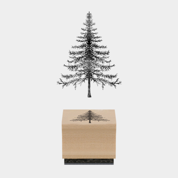 Stempel / Kerstboom - Christmas tree / EI 3679