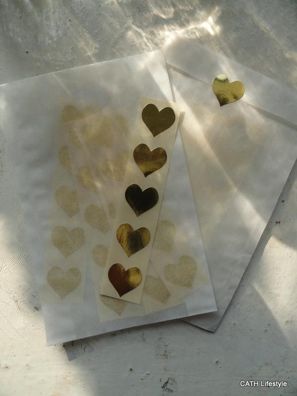 Sticker - mini hart / goud / 15mm / 50 stk