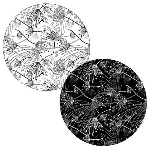 Sticker sluitzegel   zwart wit - Berenklauw   20stk