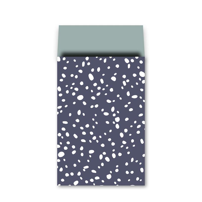 Zakje | snow flow diepblauw | 12 x 19 cm | 5 stk
