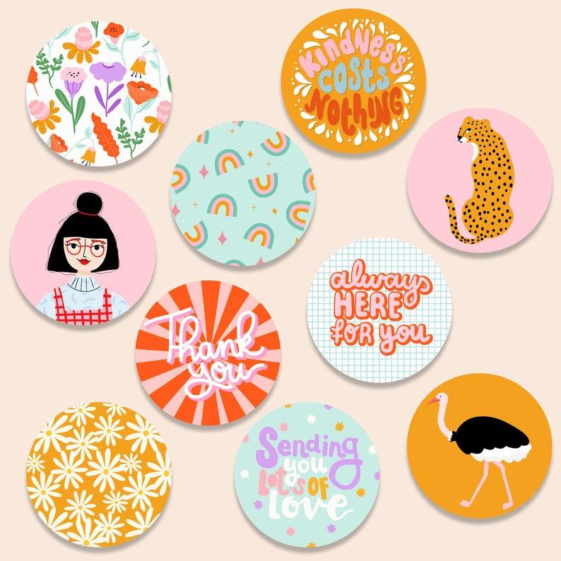 Stickers mix set - Muchable I - 3cm | 10stk