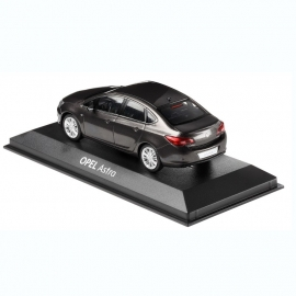 Miniatuur Opel Astra Sedan Asteroid Grey