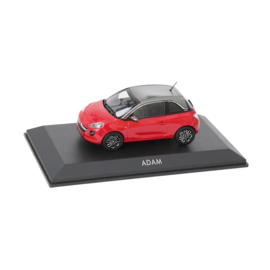 Miniatuur Opel Adam Fire Red met Light Grey dak
