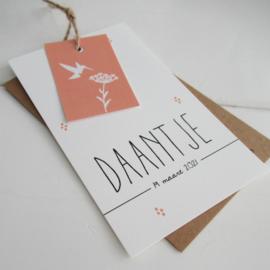 Geboortelabel Daantje