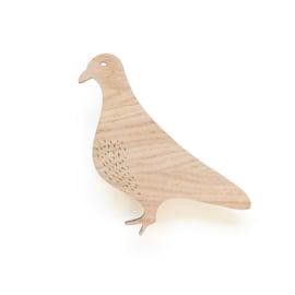 *NIEUW* Wandhaak hout duif Ted & Tone