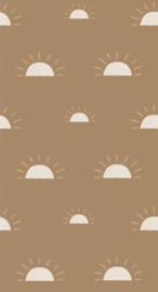 Behang Ochtendgloren bruin