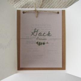 Geboortekaart pocketfold Jack