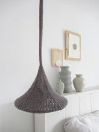 Gebreide hanglamp grijs 25,5 cm